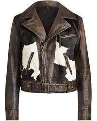 Ralph Lauren - Hadley Lined Leather Jacket - Lyst