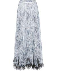Costarellos - Plisse Printed Chiffon Skirt - Lyst