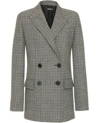 Givenchy - Double-breasted Checked Wool Blazer - Lyst