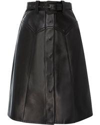 Maison Margiela - Rodeo Belted Leather Midi Skirt - Lyst