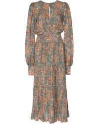 Johanna Ortiz - Hechiceria Printed Silk-georgette Midi Dress - Lyst