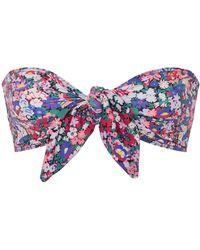 Ephemera - Liberty Tie Front Bikini Top - Lyst
