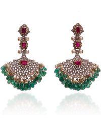 Sanjay Kasliwal - 18k Gold, Silver And Multi-stone Earrings - Lyst