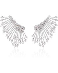 Hueb - Luminus 18k White Gold Diamond Earrings - Lyst