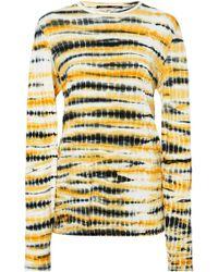 Proenza Schouler - Tie Dye Long Sleeve Jersey Tissue Top - Lyst
