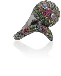 Lynn Ban - Black Rhodium-plated Silver And Multi-stone Ring - Lyst