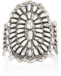 Fallon - One-of-a-kind White Turquoise Monumental Cuff - Lyst