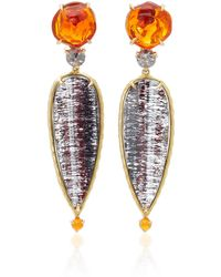 Daria de Koning Caliente 18k Yellow Gold Multi-stone Earrings