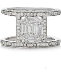 AS29 - Illusion Diamond & 18k White Gold Multi Band Ring - Lyst
