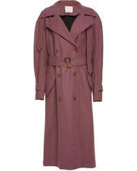 Tibi - Light Weight Felted Wool Windcoat - Lyst