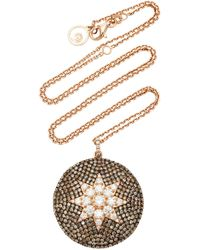 Bee Goddess - Venus Star 14k Rose Gold Diamond Necklace - Lyst