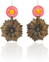 Lulu Frost - Journey Vintage Flower Earrings - Lyst