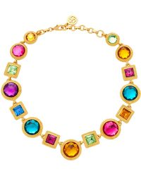 Ben-Amun - Gold-plated Crystal Necklace - Lyst