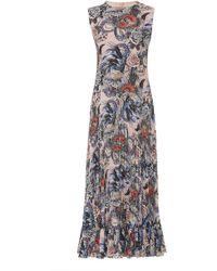RED Valentino - Wild Pride Printed Crepe De Chine Dress - Lyst