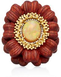 Silvia Furmanovich - Marquetry Flower Ring - Lyst