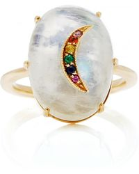 Andrea Fohrman - Galaxy Moonstone With Multicolor Crescent Ring - Lyst