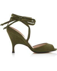 6279e059874 Alchimia Di Ballin Tara Suede Platform Sandals in Pink - Lyst
