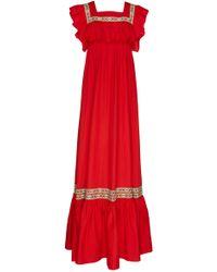 Stella Jean - Ruffle Maxi Dress - Lyst