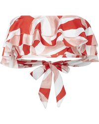 Suboo - Havana Ruffled Bandeau Bikini Top - Lyst