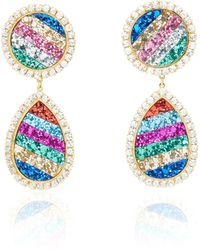 Shourouk - Shimer Rainbow Earrings - Lyst