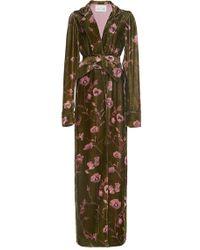 Johanna Ortiz - Florari Belted Velvet Kimono Robe - Lyst