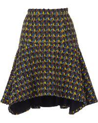 Delpozo - Asymmetric Hem Skirt - Lyst