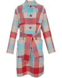 Bottega Veneta - Multicolour Wool Coat - Lyst