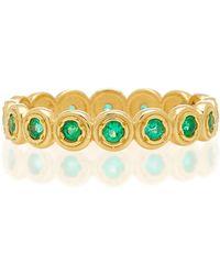 Octavia Elizabeth - Nesting Gem Emerald And 18k Gold Eternity Ring - Lyst