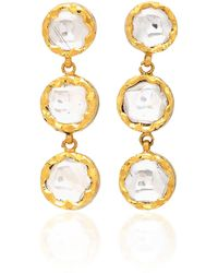 Sanjay Kasliwal - 22k Gold Diamond Earrings - Lyst