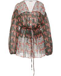 Liberty Coralie Clementine Printed Cotton-voile Dress - Black