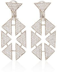 Karma El Khalil - Floating Triangle Earrings - Lyst