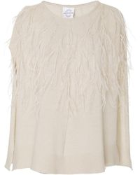 Carolyn Rowan Accessories - Exclusive Feathered Cashmere Poncho - Lyst