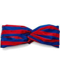 Jennifer Behr | Striped Silk Headwrap | Lyst