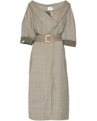 Johanna Ortiz - Tradition Belted Printed Wool-felt Coat - Lyst