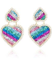 Shourouk - Marylin Rainbow Earrings - Lyst