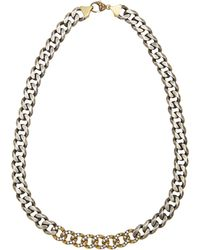 Sylva & Cie - 18k Gold, Sterling Silver And Diamond Necklace - Lyst