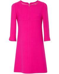 Courreges - Swallows Wool Mini Dress - Lyst