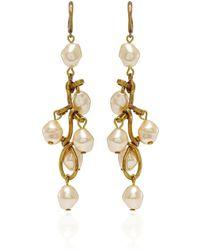Marni - Pearl Gold-tone Drop Earrings - Lyst
