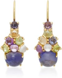 Daria de Koning Dagny 18k Gold Multi-stone Drop Cluster Earrings