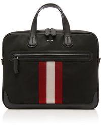 Bally - Striped Briefcase - Lyst