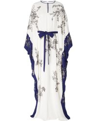 Marchesa - Exclusive Embellished Silk Georgette Caftan - Lyst