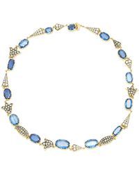 Sylva & Cie - One-of-a-kind Kyanite And Diamond Necklace - Lyst