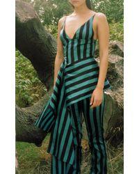 16Arlington - Asymmetric Stripe Taffeta Top - Lyst