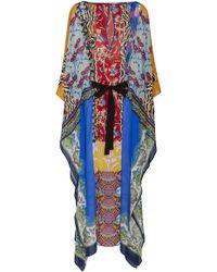 Etro - Chubasco Printed Crepe Kaftan Dress - Lyst