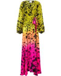 Anna Kosturova - Print Silk Wrap Dress - Lyst