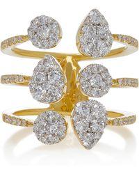 Sara Weinstock - Reverie Yellow Gold White Diamond Open Ring - Lyst