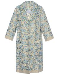 Luisa Beccaria - Linen Embroidered Coat - Lyst