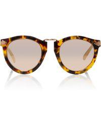779e6017fedf Karen Walker - Harvest Rose Gold-tone Metal And Tortoiseshell Acetate  Sunglasses - Lyst