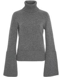 Michael Kors - Bell Sleeve Cashmere Turtleneck Sweater - Lyst