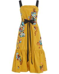 Prabal Gurung - Peplum Hem Gathered Waist Dress - Lyst